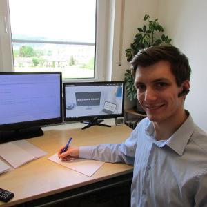 Fabian Heinz bei der Arbeit